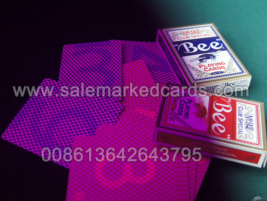 marked playing cards with invisible ink
